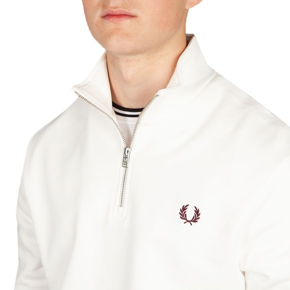 Fred Perry Mens Off-White 1/2 Zip Sweatshirt main image