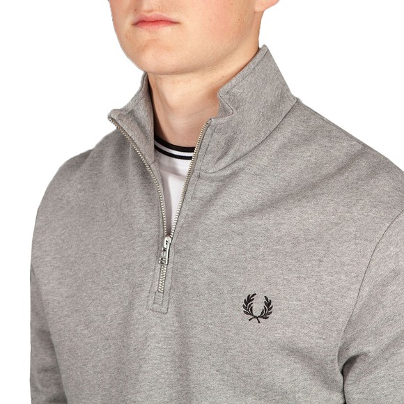 Fred Perry Mens Grey 1/2 Zip Sweatshirt main image
