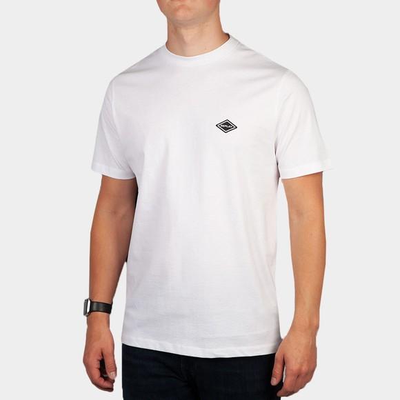 Replay Mens White M3466 Basic Logo T-Shirt