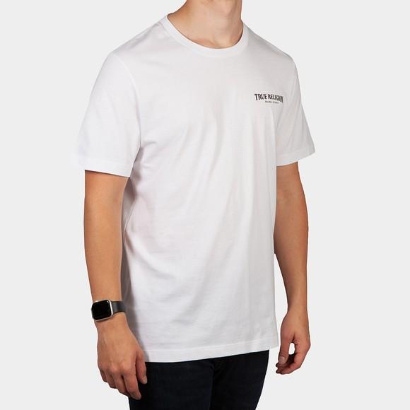 True Religion Mens White Arch Logo T Shirt