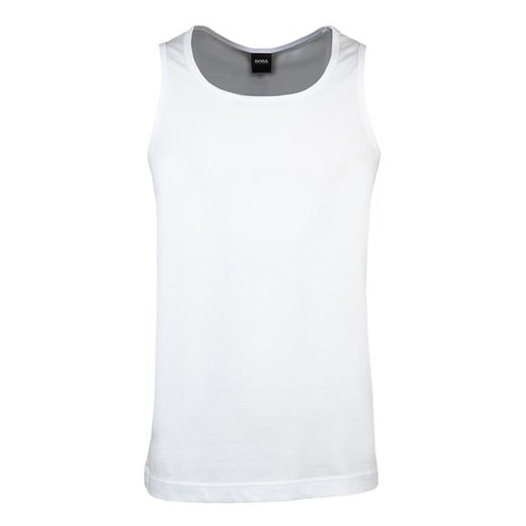 BOSS Bodywear Mens White Beach Side Logo Vest