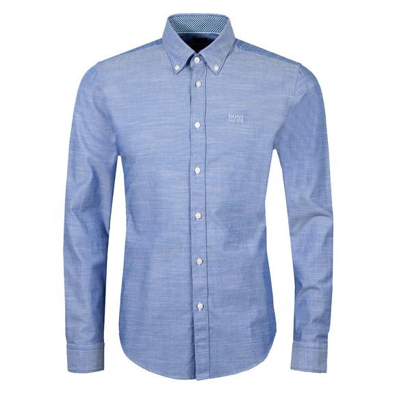 BOSS Mens Blue Formal Rod Shirt