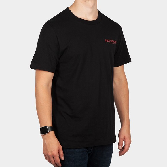 True Religion Mens Black Arch Logo T Shirt