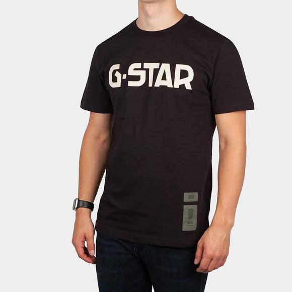 G-Star Mens Black Logo T-Shirt