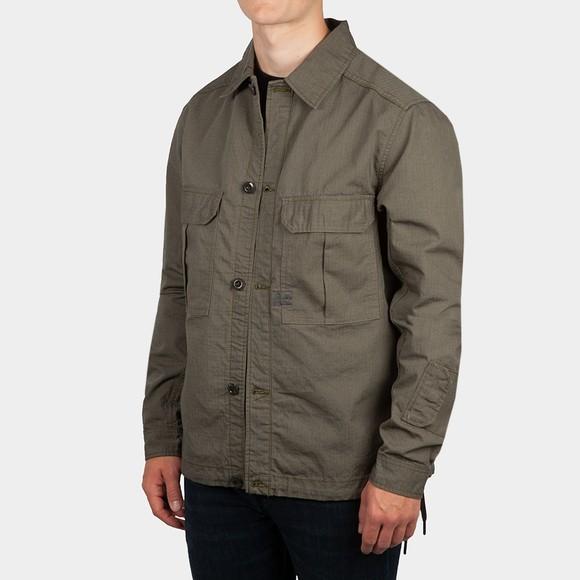 G-Star Mens Green Flap Pocket Overshirt