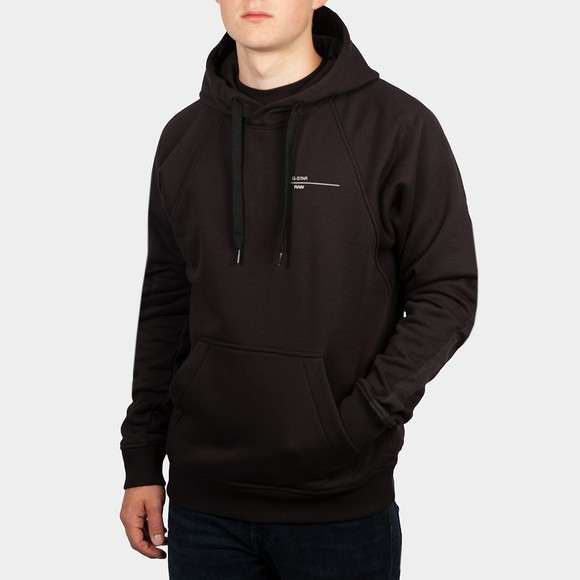 G-Star Mens Black Astra Wrap Hooded Sweatshirt