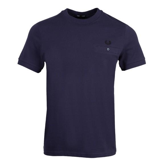 Fred Perry Mens Blue Pocket Pique T-Shirt main image