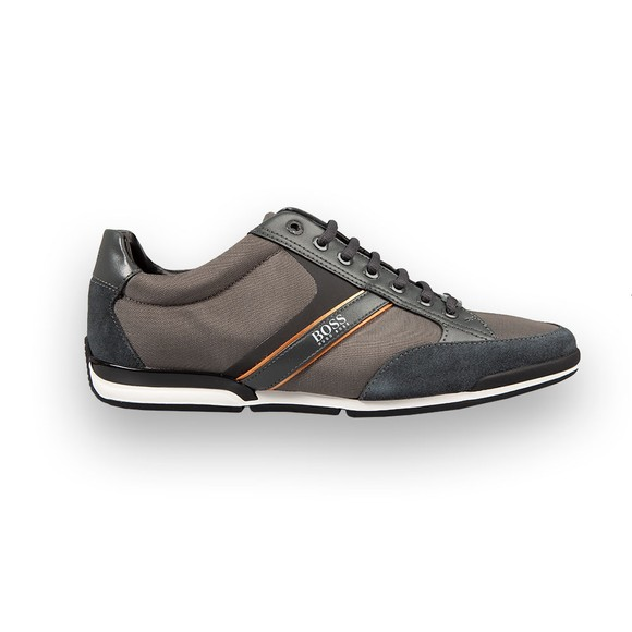 BOSS Mens Silver Saturn Lowp Mix Trainer