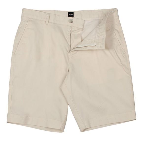 BOSS Mens Off-White Slice Chino Short