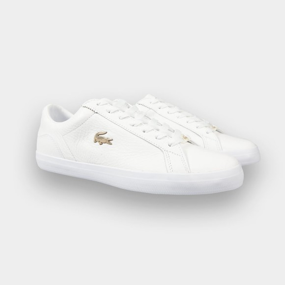 Lacoste Mens White Lerond 0721 Leather Trainer