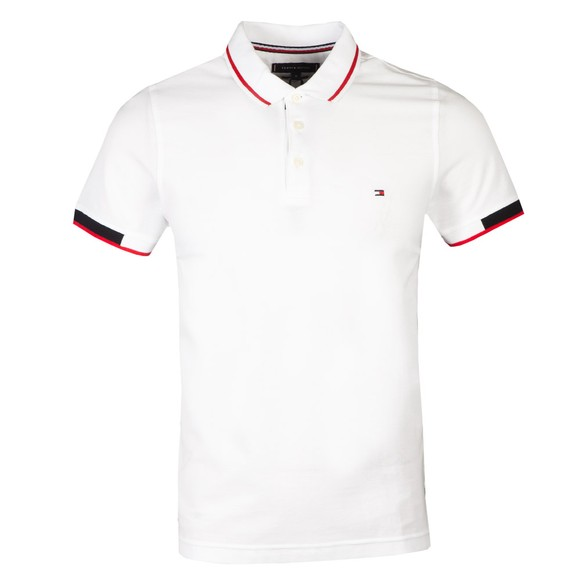 Tommy Hilfiger Mens White Placket Polo Shirt