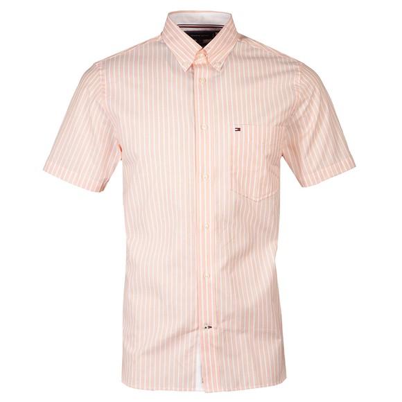 Tommy Hilfiger Mens Orange S/S Stripe Shirt