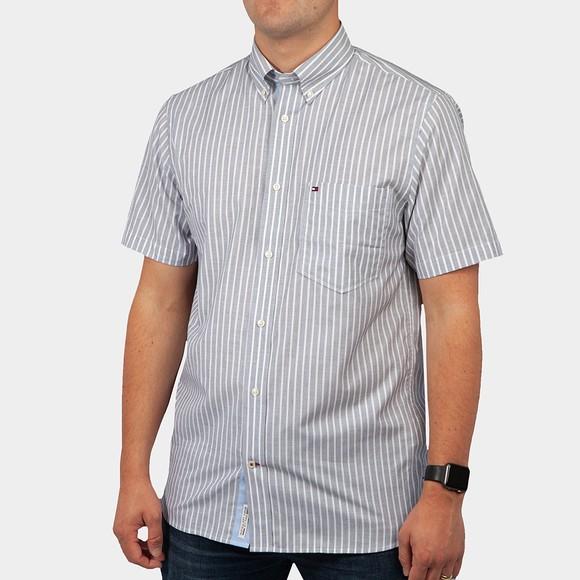 Tommy Hilfiger Mens Blue S/S Stripe Shirt