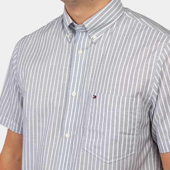 Tommy Hilfiger Mens Blue S/S Stripe Shirt main image