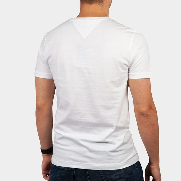 Tommy Hilfiger Mens White Fade Graphic Corp T-Shirt main image