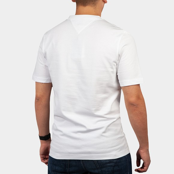 Tommy Hilfiger Mens White Icon Earth Badge T-Shirt main image