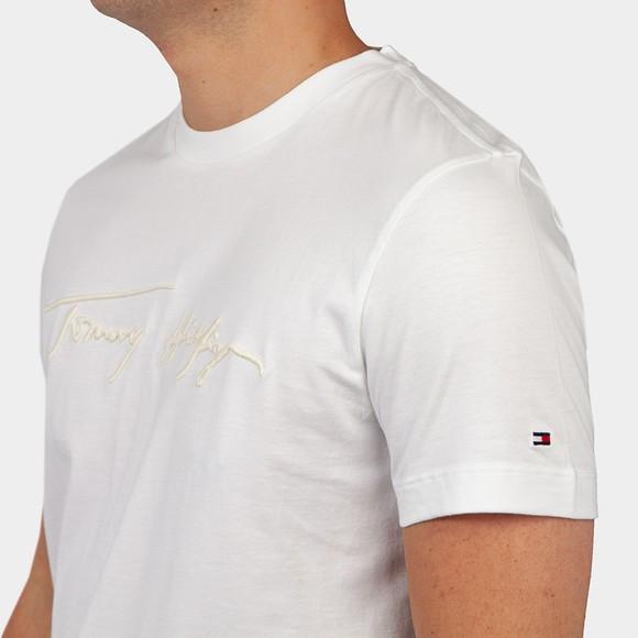 Tommy Hilfiger Mens White Signature Graphic T-Shirt main image