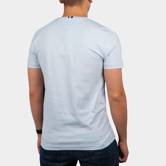 Tommy Hilfiger Mens Blue Stacked Flag T-Shirt main image