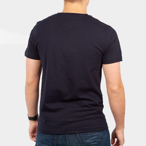Tommy Hilfiger Mens Blue Fade Graphic Corp T-Shirt main image