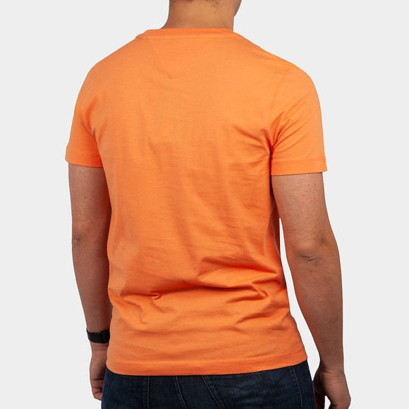 Tommy Hilfiger Mens Orange Signature Graphic T-Shirt main image