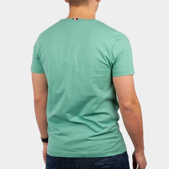 Tommy Hilfiger Mens Green Stacked Flag T-Shirt main image