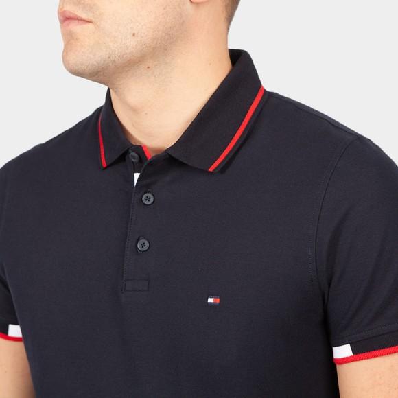 Tommy Hilfiger Mens Blue Placket Polo Shirt main image
