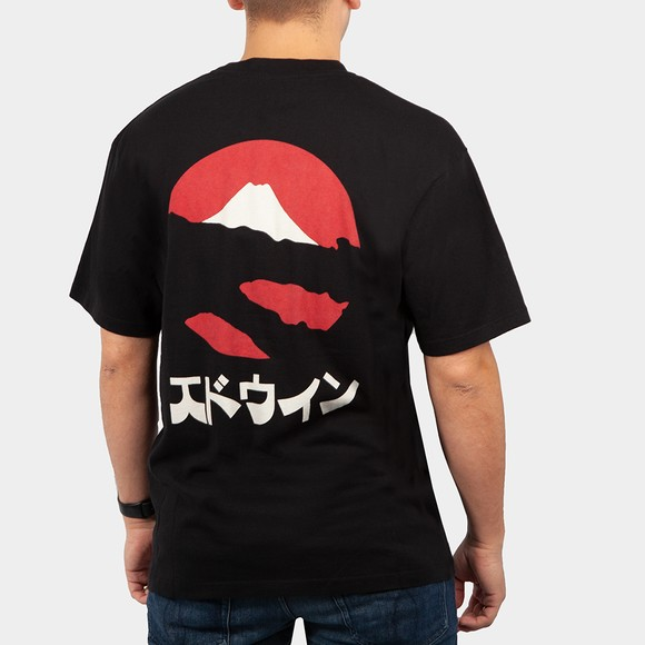 Edwin Mens Black Kamifuji T Shirt main image