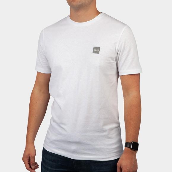 BOSS Mens White Casual Tales 1 T Shirt