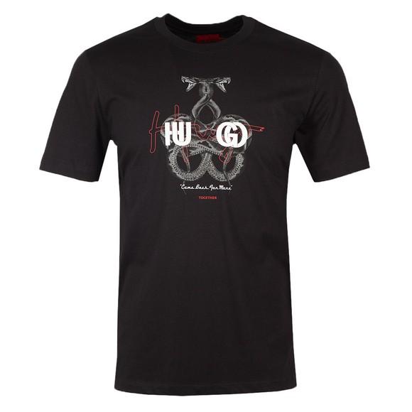 HUGO Mens Black Dnake T Shirt