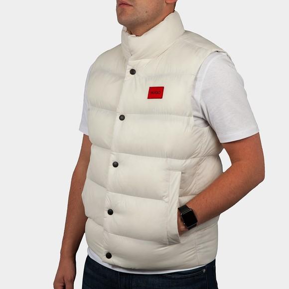 HUGO Mens Off-White Baltino Gilet