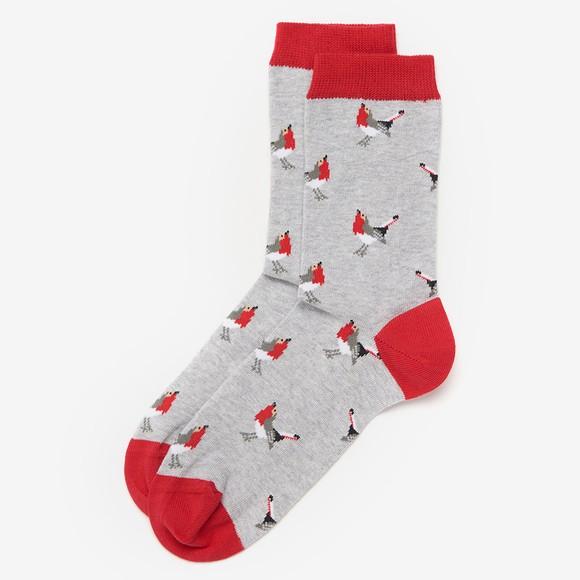 Barbour Lifestyle Womens Grey Robin Socks