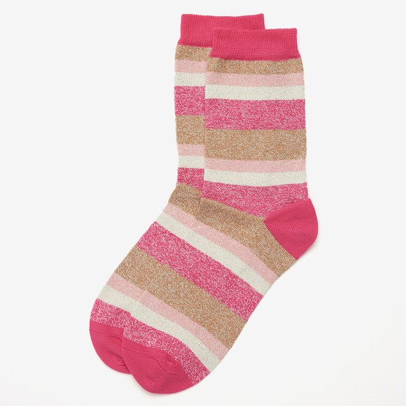 Barbour Lifestyle Womens Pink Spark Star Sock