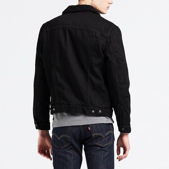 Levi's ® Mens Black Sherpa 3 Trucker Jacket