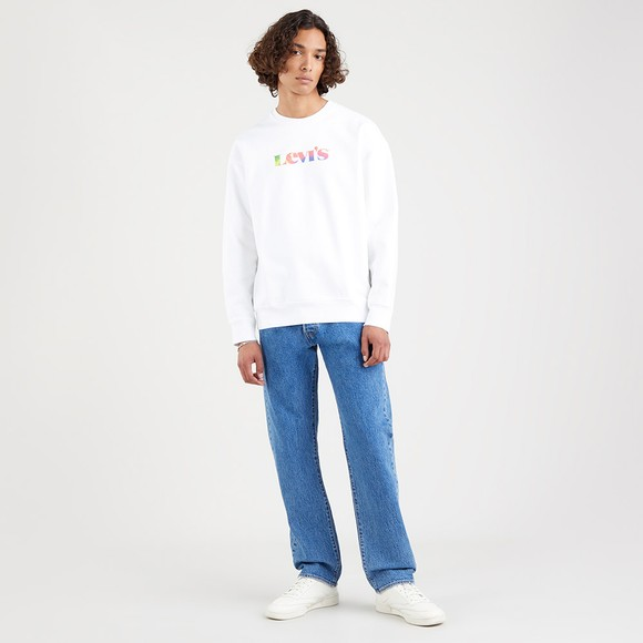 Levi's ® Mens White Graphic Sweatshirt main image