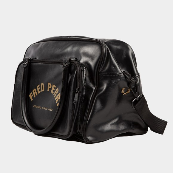 Fred Perry Mens Black Arch Branded Holdall