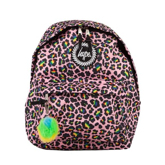 Hype Girls Multicoloured Rainbow Leopard Backpack