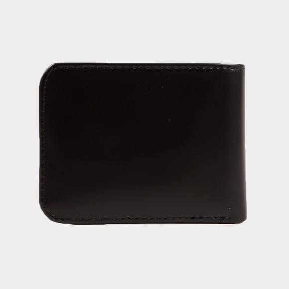 Fred Perry Mens Black Matte Leather Billfold Wallet
