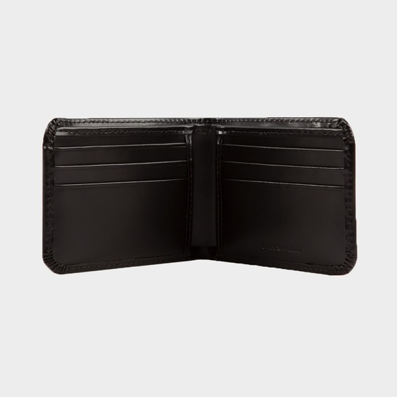 Fred Perry Mens Black Matte Leather Billfold Wallet main image