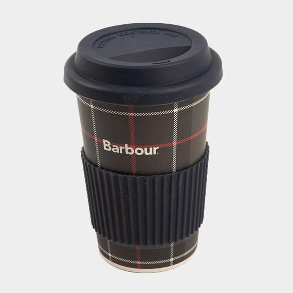 Barbour Lifestyle Womens Green Tartan Travel Mug