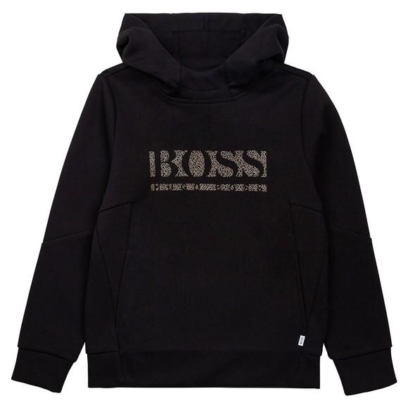 BOSS Boys Black Gold Logo Hoody