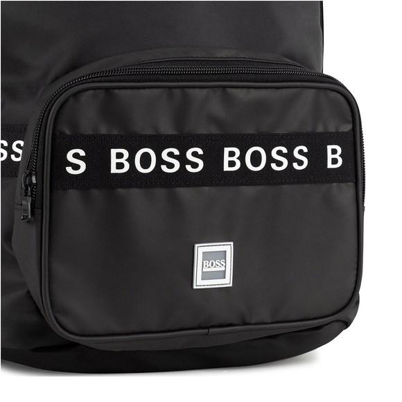 BOSS Boys Black Tape Backpack