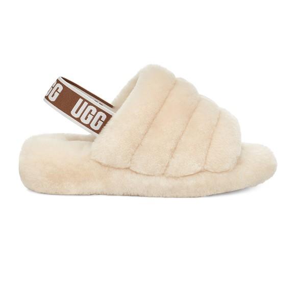 Ugg Womens Off-White Fluff Yeah Slide
