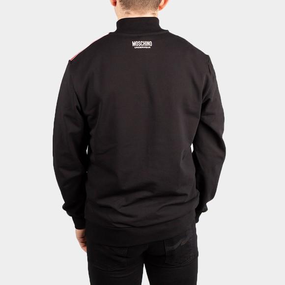 Moschino Mens Black Shoulder Tape Half Zip Sweatshirt main image