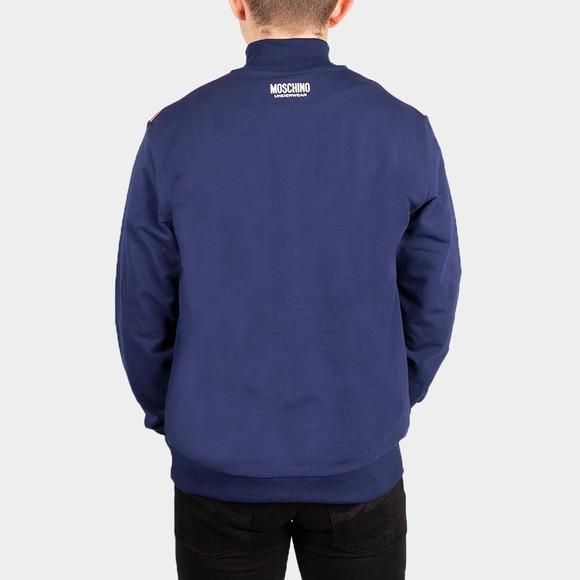 Moschino Mens Blue Shoulder Tape Half Zip Sweatshirt main image