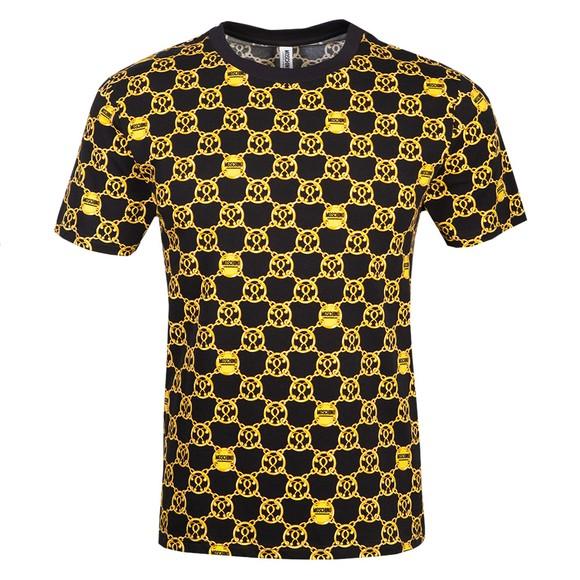 Moschino Mens Black Chain Print T Shirt