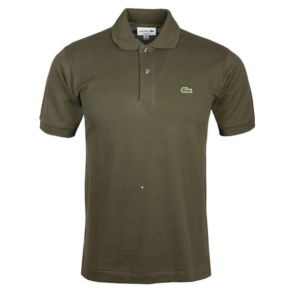 Lacoste Mens Green L1212 Plain Polo Shirt