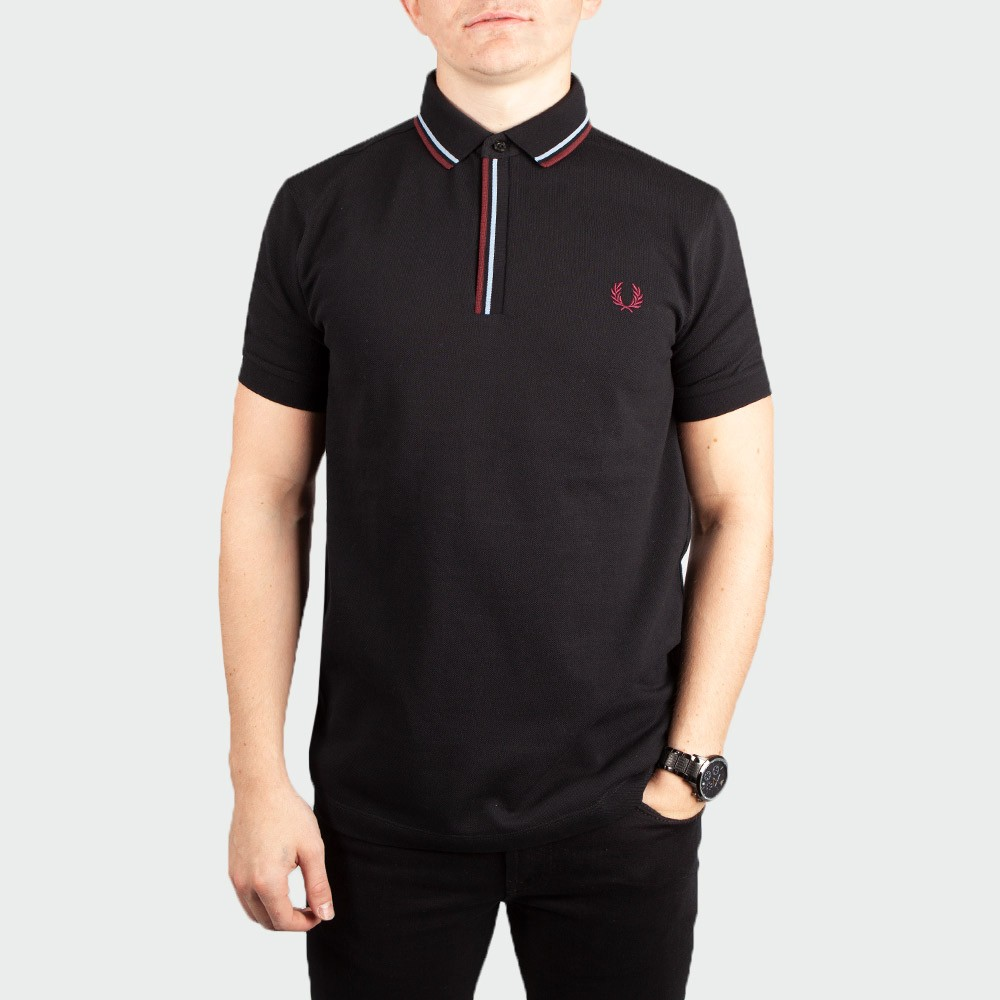 Tipped Placket Polo Shirt main image
