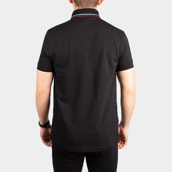 Fred Perry Mens Black Tipped Placket Polo Shirt main image