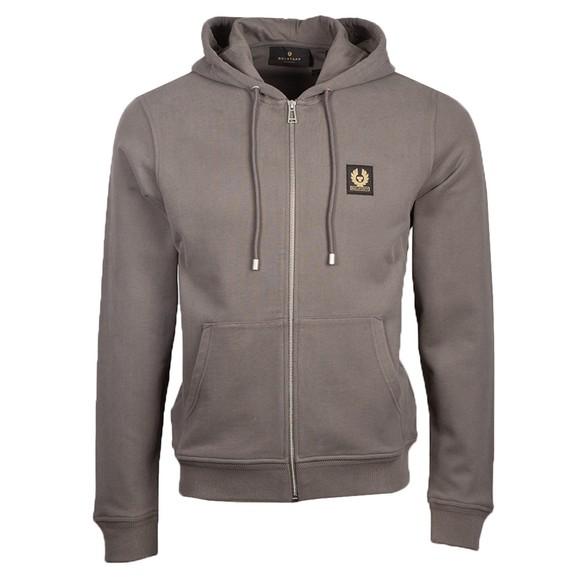 Belstaff Mens Grey Patch Logo Zip Hoody