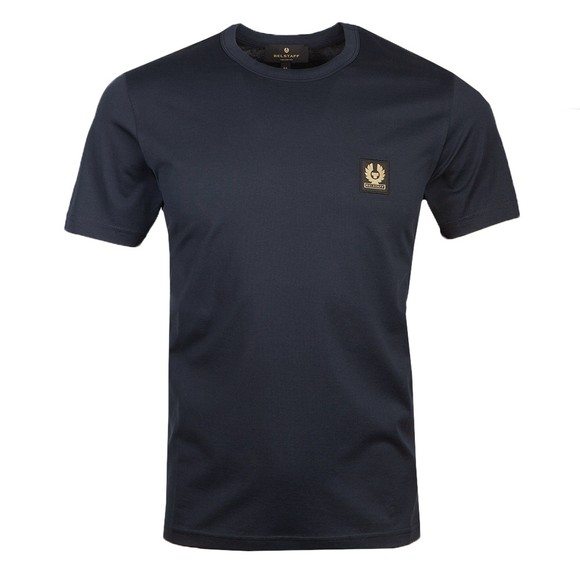 Belstaff Mens Blue Patch Logo T Shirt